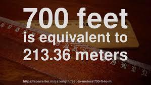 Feet In Meter 700 Ft To M How Long Is 700 Feet In Meters Convert