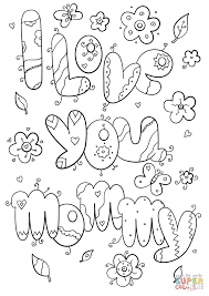 i love you mom coloring page with u coloring pages eson me