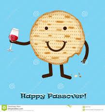 funny happy jewish passover greeting card vector illustration