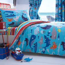 ben de lisi home kids u0027 blue u0027sharky u0027 duvet cover and pillow case