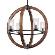 Lowes Com Lighting Shop Kichler Grand Bank 20 In Auburn Rustic Hardwired Single