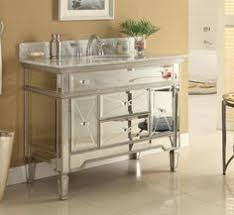 Silver Bathroom Vanities by This Adelina 36 Inch Mirrored Silver Bathroom Vanity Will Add