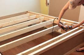 How To Build A Platform Bed With Legs by How To Make A Wood Bed Frame