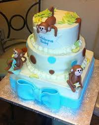 3 tier baby monkey theme baby shower cake jpg 5 comments