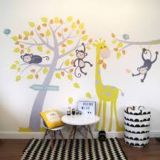 wall stickers ireland wall stickers ireland grey and yellow animals and tree wall stickers decorative accessories