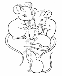 farm animal coloring family mice animals templates