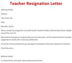 resignation letter for preschool teachers professional resumes