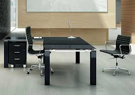Bureau Verre Design Contemporain - bureau direction verre noir au design contemporain cube glass