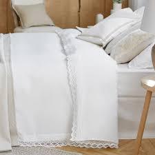 lace trim percale cotton bed linen zara home australia