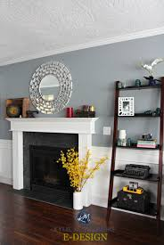 sherwin williams network gray in living room white wainscoting