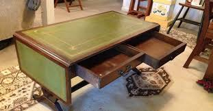 Leather Top Coffee Table Green Leather Top Drop Leaf Coffee Table Info Hometalk