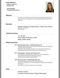 example of resume for applying job example of resume for job