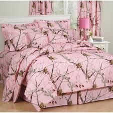chic pink camo bed set queen beautiful home decoration for