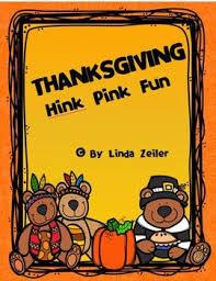 thanksgiving hink pinks by zeiler teachers pay teachers