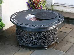 round propane fire pit table propane fire pit table as futuristic design justasksabrina com