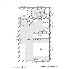 suite parentale plan 2 pièces 20 m2 dessiné par cochise59