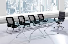 Glass Top Conference Table Whosale Modern Tempered Glass Top Conference Table In China From