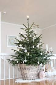 How To Decorate A Real Christmas Tree Love The Tree In A Basket Idea Great For Keeping Little Ones Away