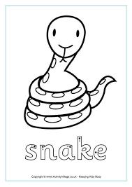 snake worksheets