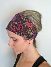 fabric headbands blue and coral floral headband fabric headband women s band