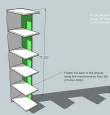 How To Build A Corner Bookcase Step By Step Ana White Puzzle Bookcase Diy Projects