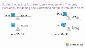 13 solve one step inequalities using properties of equality fp