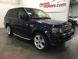range rover back 2013 land rover range rover sold sport hse luxury baltic blue tan