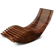 Relaxer Chair Wooden Sun Lounger Outdoor Garden Swing Relaxer Bed Ergonomic