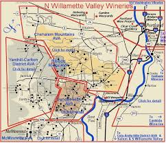 newberg oregon wineries map oregon map