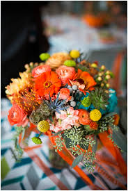 Wedding Flowers October Colorful October Wedding The Budget Savvy Bride