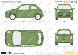 nissan micra 2004 the blueprints com vector drawing nissan micra 3 door
