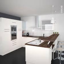 idee couleur cuisine ouverte cuisine ouverte en u idee relooking avec retour snack couleur ivoire