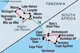 Map Of Tanzania Africa by Cycle Tanzania U0026 South Africa Tanzania Tours Intrepid Travel Us