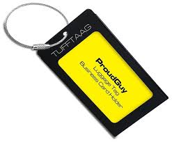 unique luggage tags buy luggage tags business card holder tufftaag by proudguy tough
