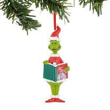 your wdw store universal ornament dr seuss grinch reading