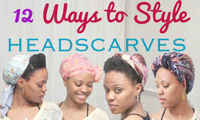 black hair styles to wear when your hair is growing out 12 ways to style a head scarf youtube