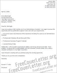 Resume Cover Letter Examples For Administrative Assistants by Administrative Assistant Cover Letter My Document Blog