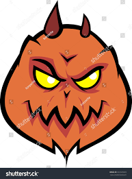 demonic vibrant spooky pumpkin devil pumpkin stock vector