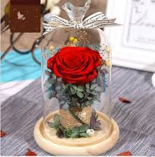 s day flowers gifts eternal flower gift box glass cover dried flower