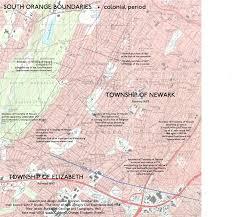 Newark Map War Of Yesterday South Orange Borders Iv
