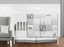Teal Crib Bedding Sets Gender Neutral Modern Elephant Theme Teal And Grey Baby Nursery