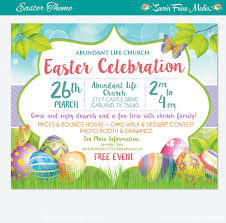 Church Invite Cards Template Easter Egg Hunt Flyer Invitation Poster Template Church