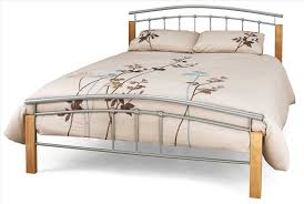 bed frame frame design ideas decofurnish king iron and wood bed