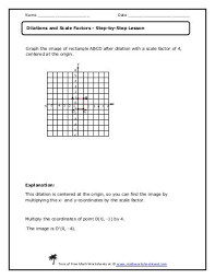 dilation math worksheets free worksheets library download and