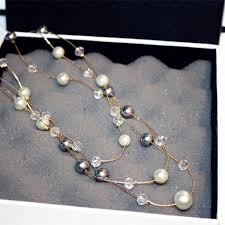 long bead chain necklace images 3 layers beads long chain necklace melinq online shopping for jpg