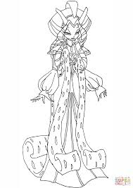 winx club queen mariam coloring page free printable coloring pages
