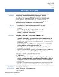 Front End Developer Sample Resume by Web Developer Resume Is Needed When Someone Want To Apply A Job As