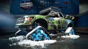 Ford Raptor Super Truck - ken block u0027s raptortrax is a snow murdering supertruck