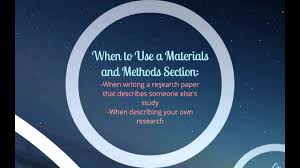 writing lab reports and scientific papers how to write a materials and methods section youtube