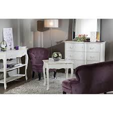 bureau romantique blanc romantique 1 tiroir harpe l 100 x p 50 x h 85 blanc antique vieilli